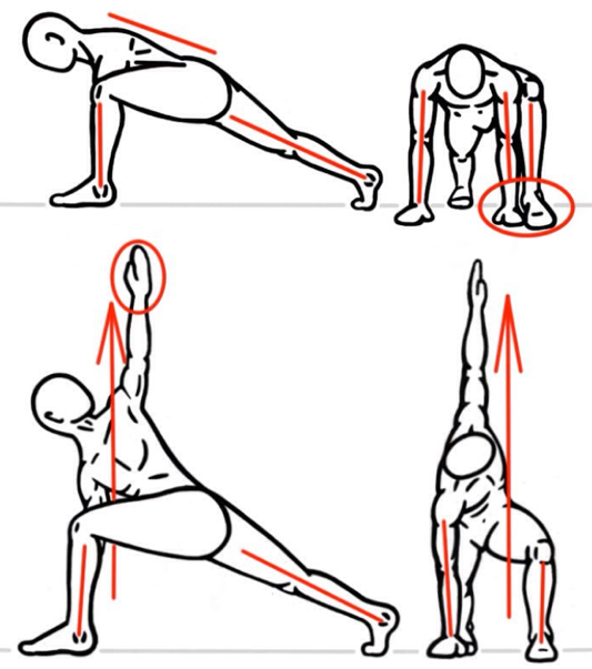 Image showing outlines of humans, doing strecthing exercises
