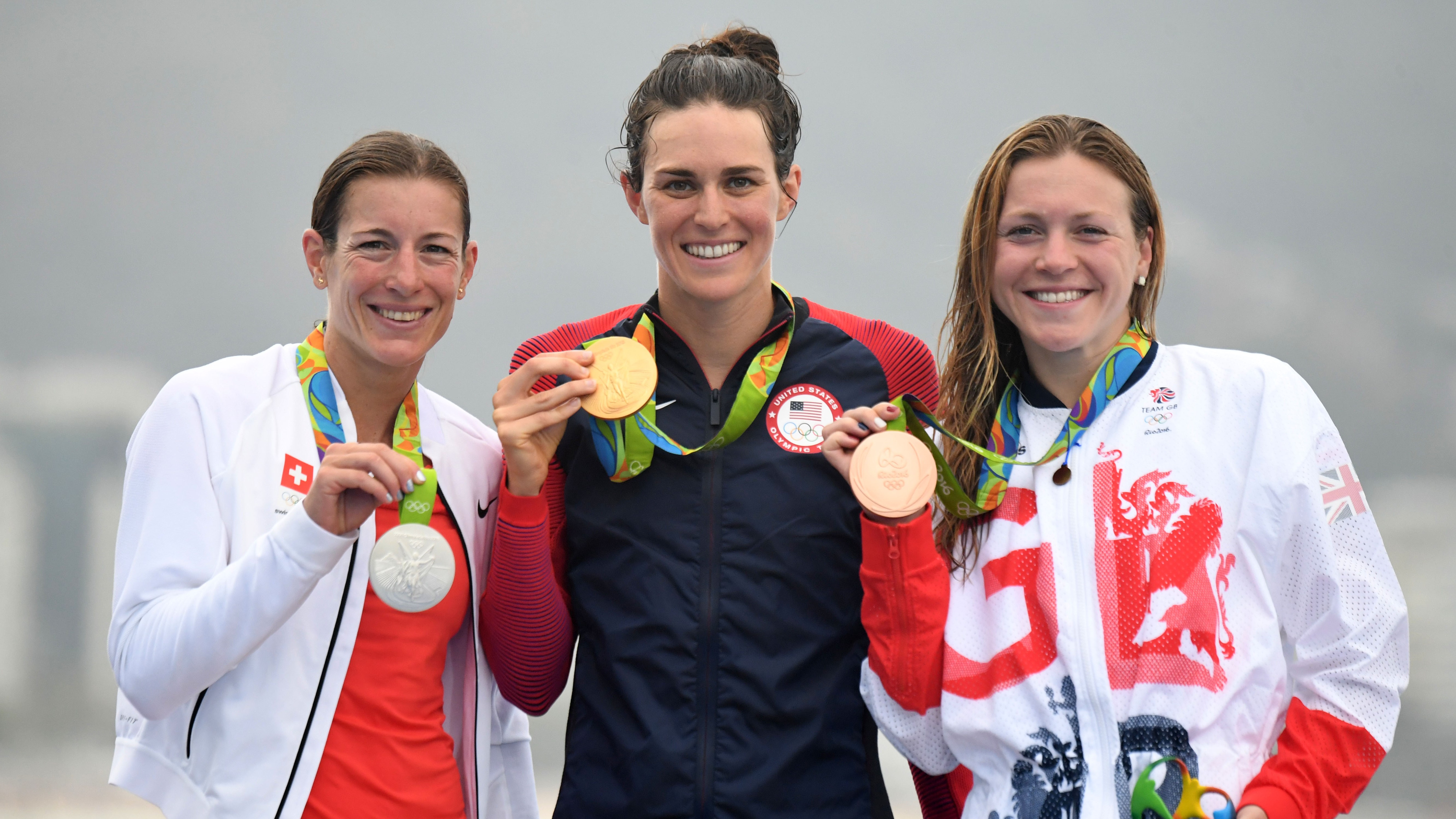 The 3 medallists at the Rio 2016 Olympics